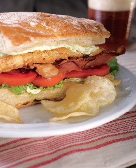"Chef Sara Moulton & Her ""Fried"" Catfish BLTs 